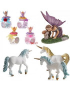 Hadas y Unicornios. Figuras de resina