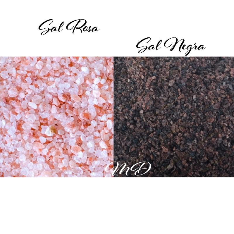 Sal Rosa y Negra Natural del Himalaya para Cocinar